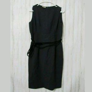 46/10 Giorgio Armani Navy Blue Wool Belted Dress